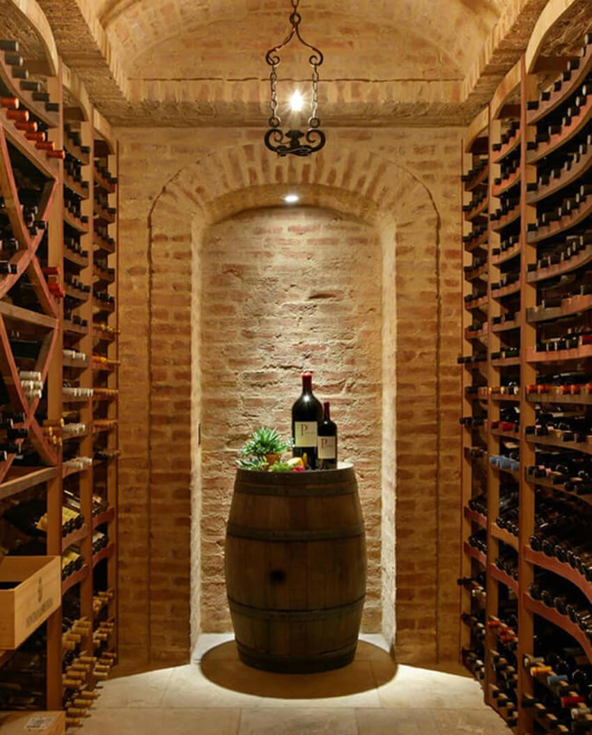 Castle cellar.