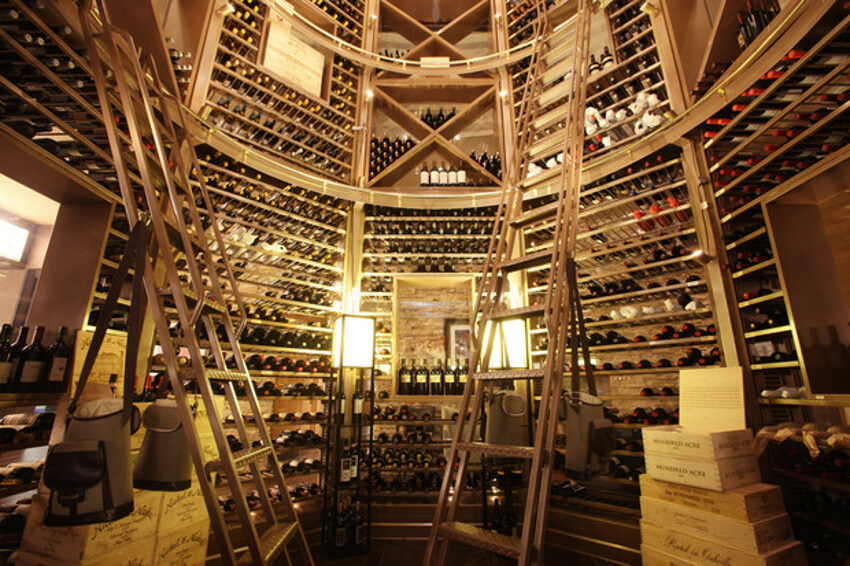 Wine cellar from David Burke Prime restaurant.