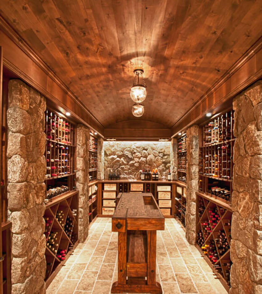 Rustic looking cellar.