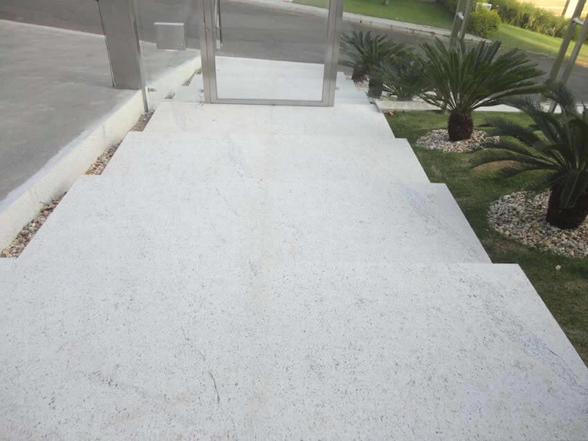 Flamed Marble is perfect for walkways.