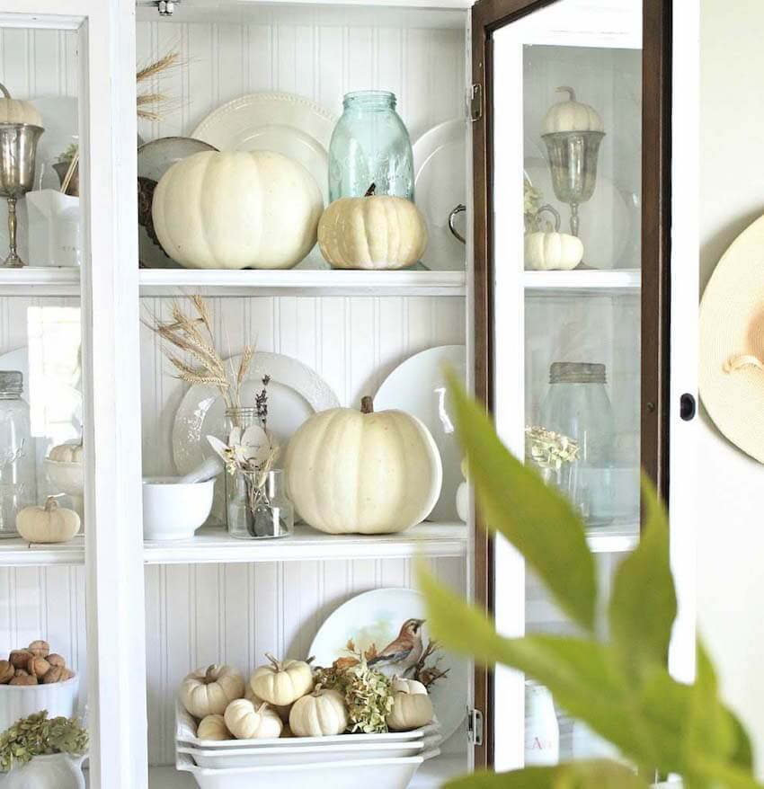 Display seasonal Halloween elements together with your china porcelain to celebrate Fall in different parts of the house.