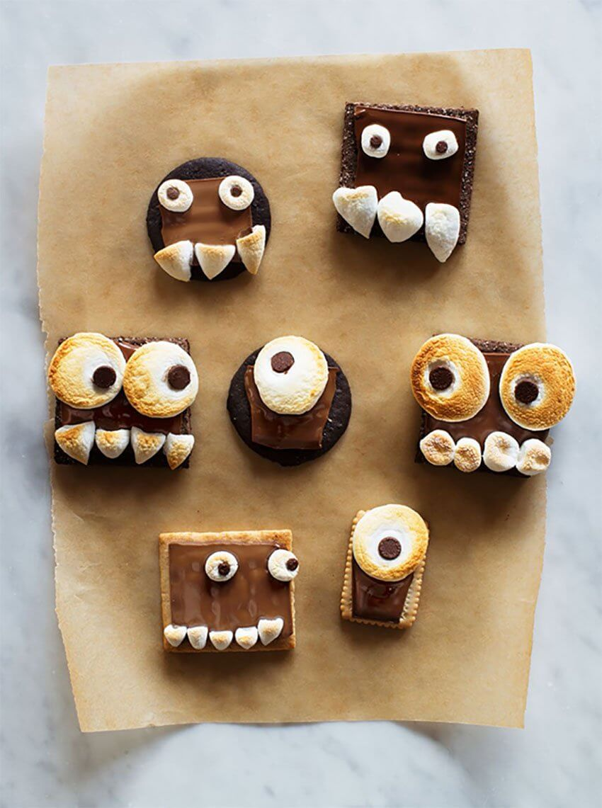 DIY Monsters Smore's for Halloween Dining Room Parties