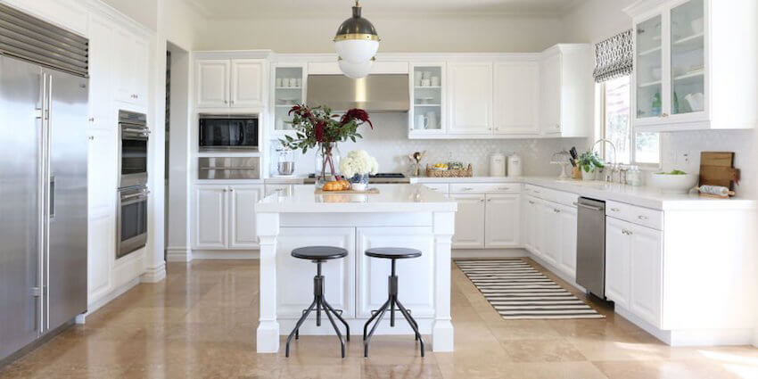 White cabinets may seem like a new trend but they are a timeless addition to any kitchen.