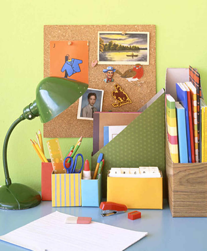 Organize your home office with some cereal box crafting!