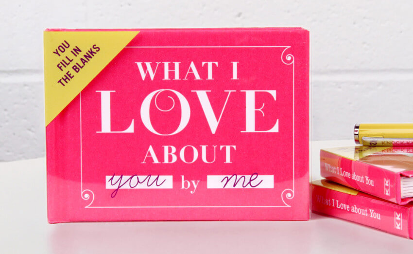 This fill-in-the-blank book to show her all the reasons you love her
