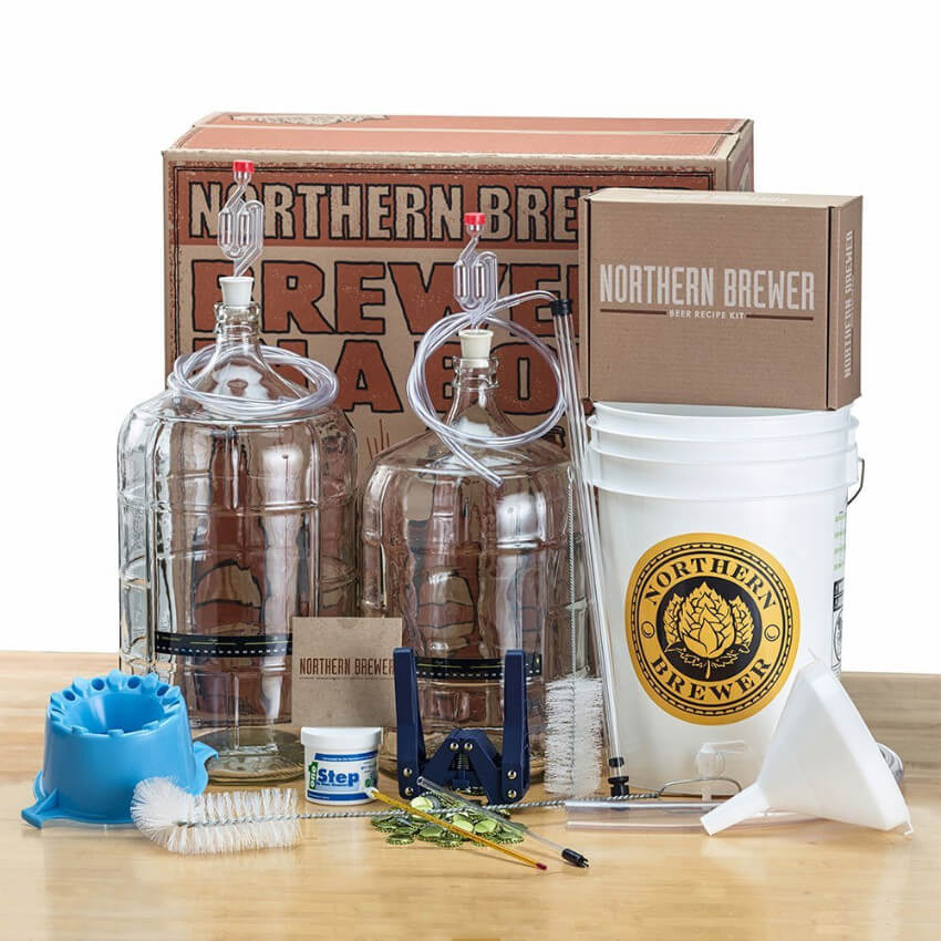A home beer-brewing kit to finally make the dream of making his own beer a reality