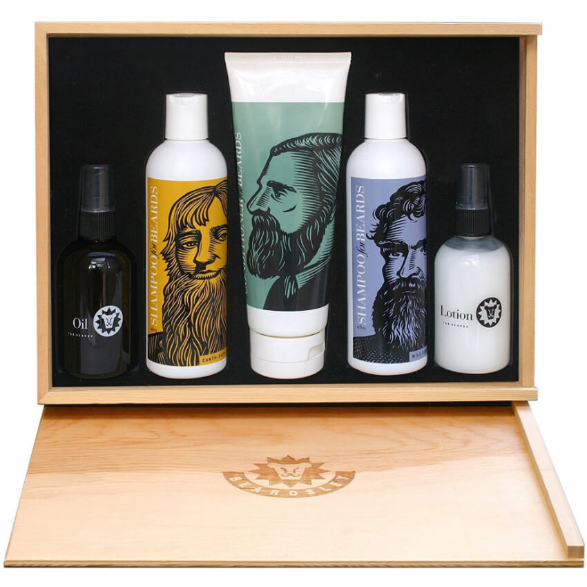 A five-piece beard kit to keep those whiskers looking as awesome as they should