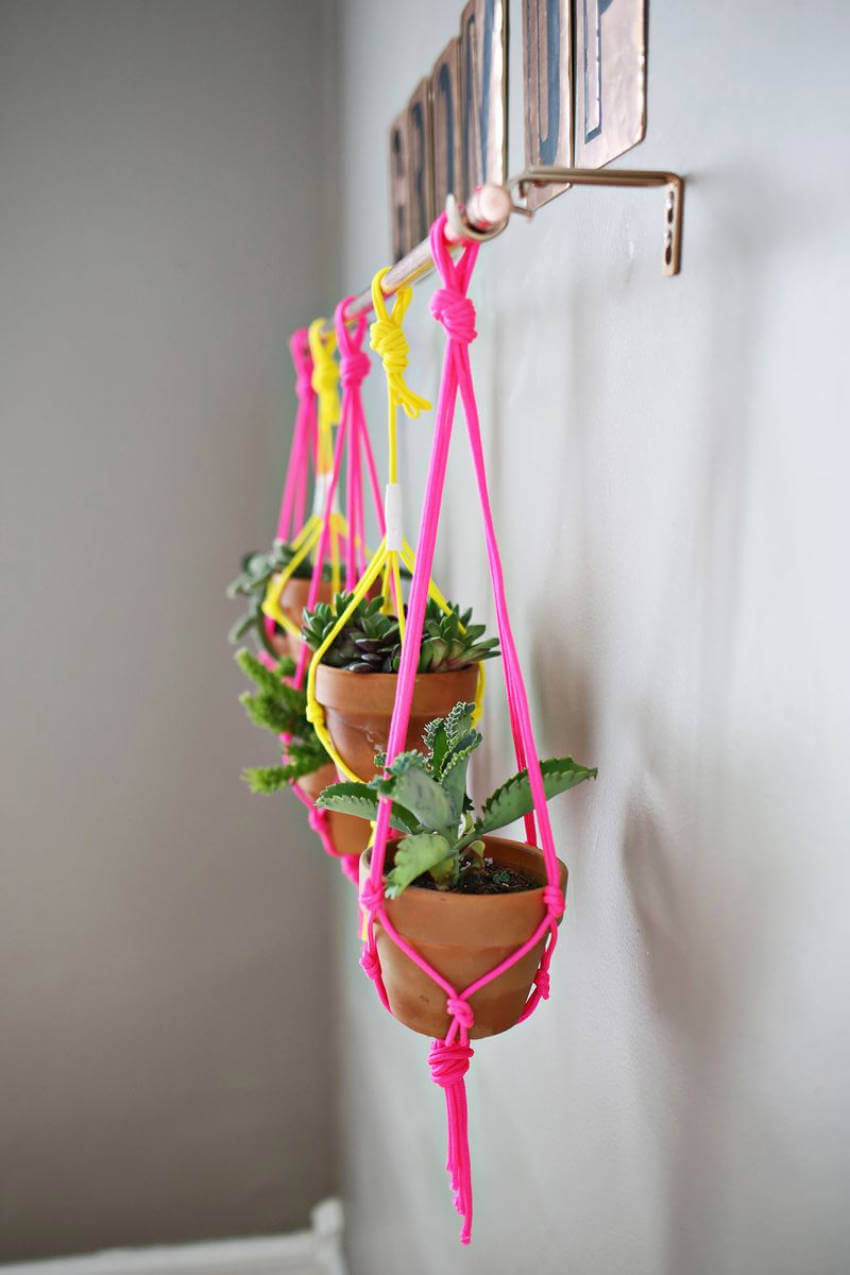 This simple copper pipe vertical garden idea is a beautiful decor addition as well!