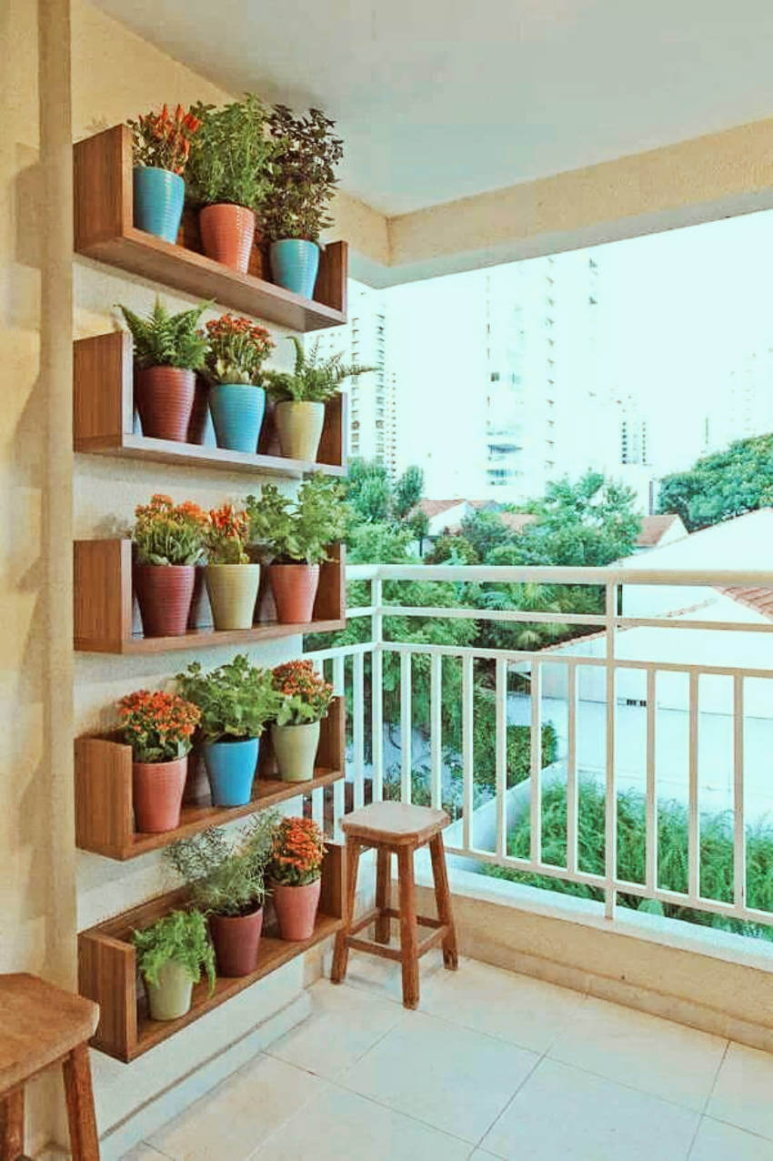 The perfect spot for an apartment is on your balcony!
