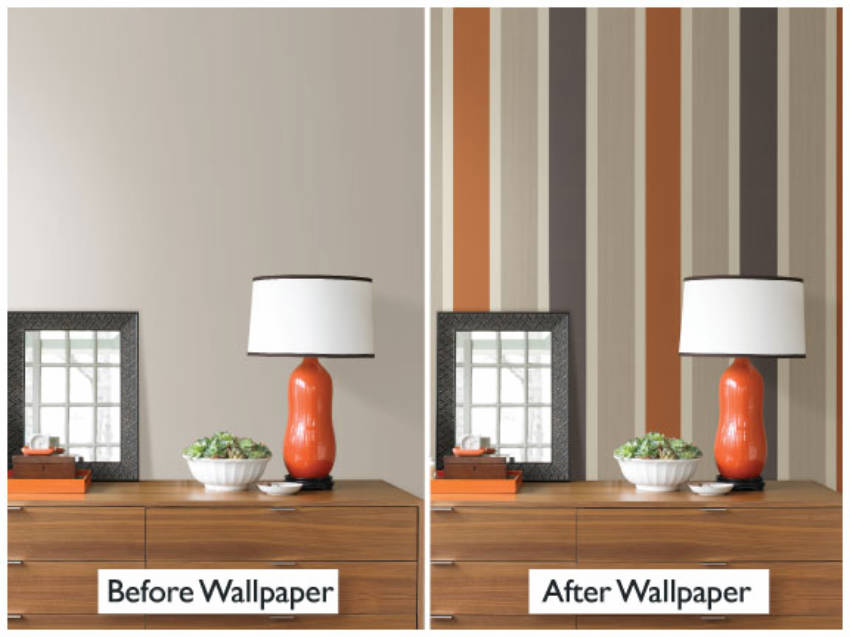 The wallpaper matching the decoration makes for a lovely idea!