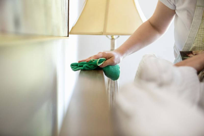 Dust and clean your bedroom this weekend.