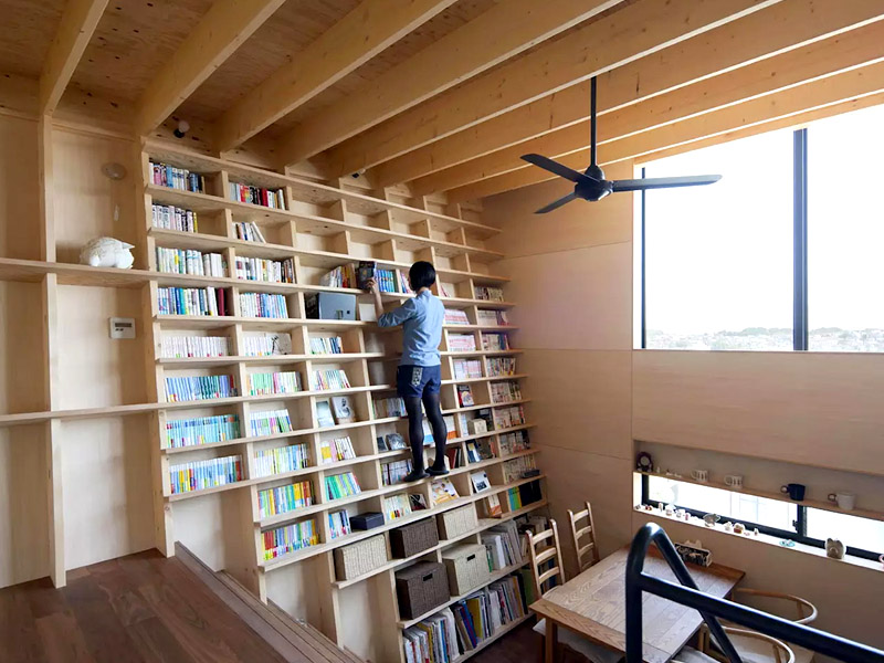 This House Was Designed Around a Bookshelf and We Love It