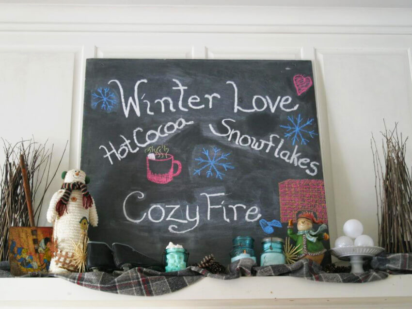 Chalkboards are simple and easy to use for decoration!