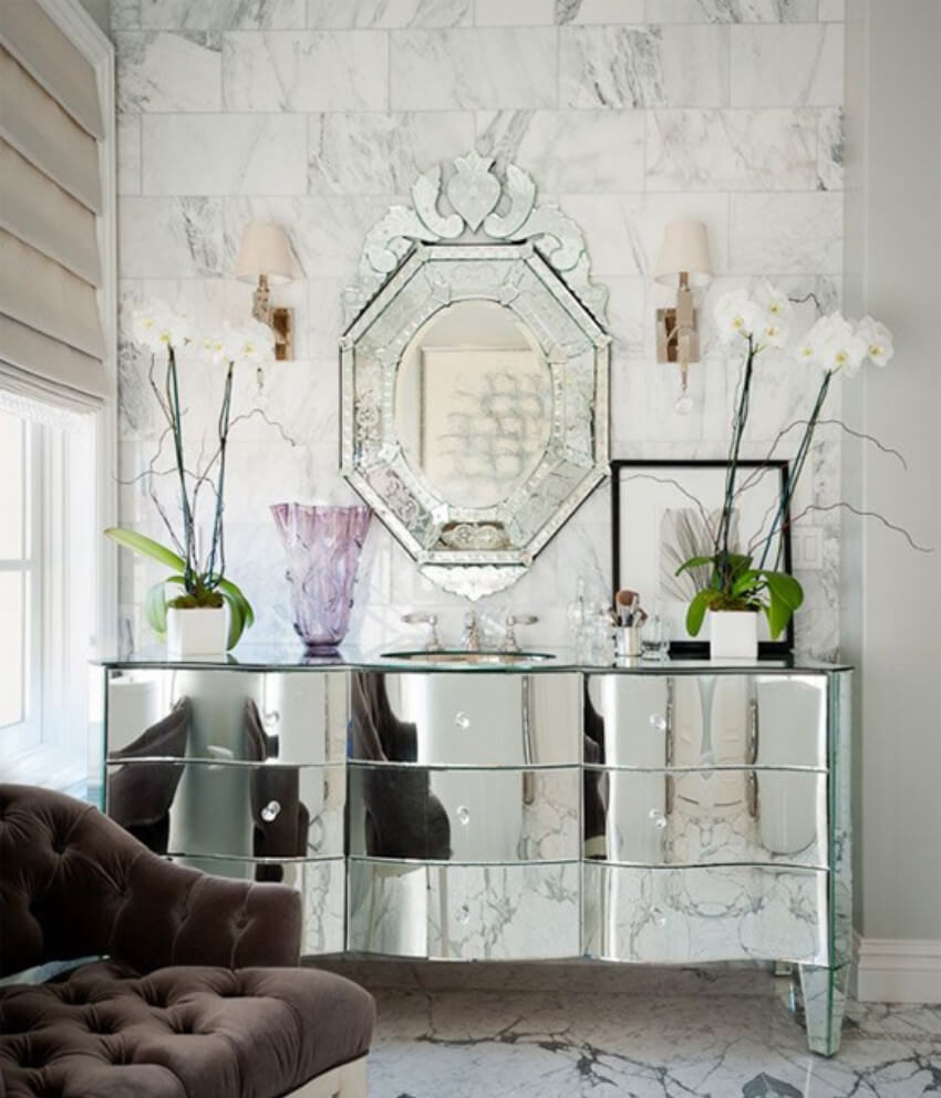 Mirrors bring in more light and also make a room look bigger!