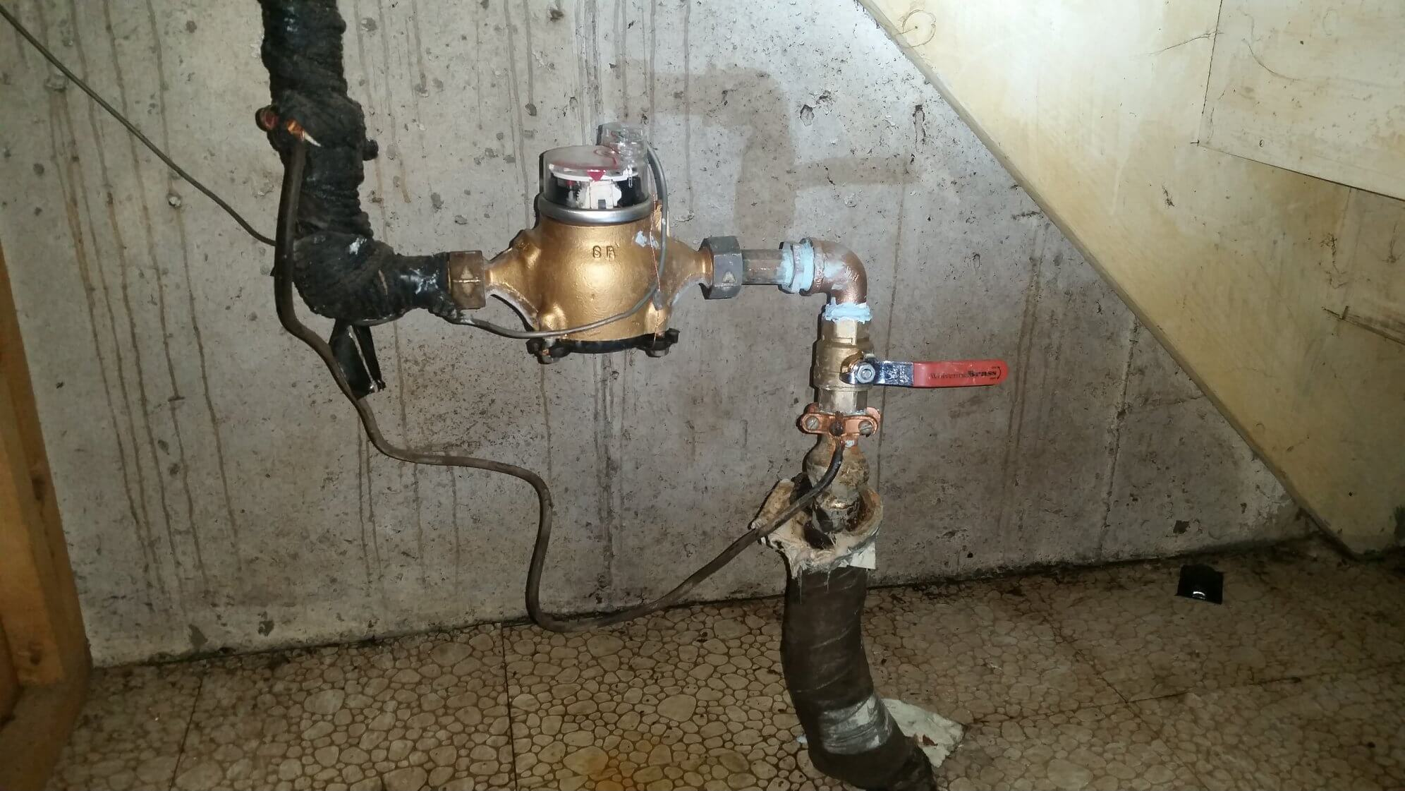 Here's what a typical main water shut-off valve looks like