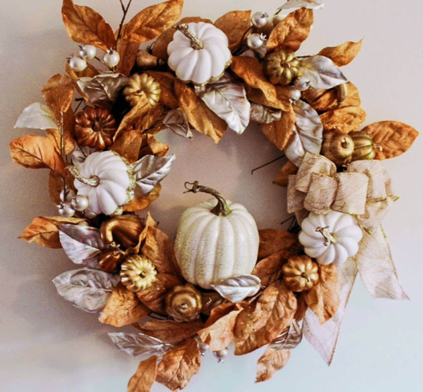 A wreath is what makes fall feel complete!
