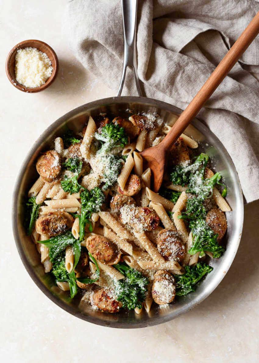 Whole wheat pasta is a good alternative.