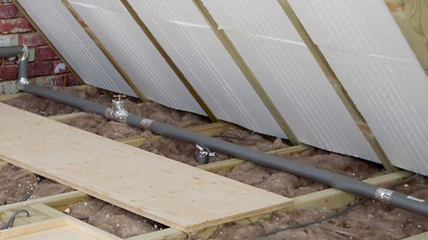 Check if your pipe insulation is still in place.