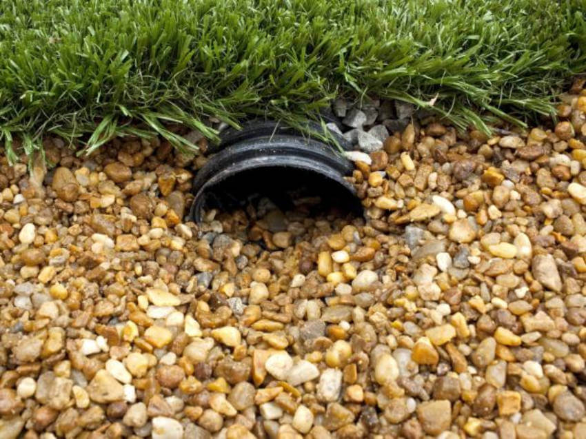 A french drain can be a simple solution to this annoying problem