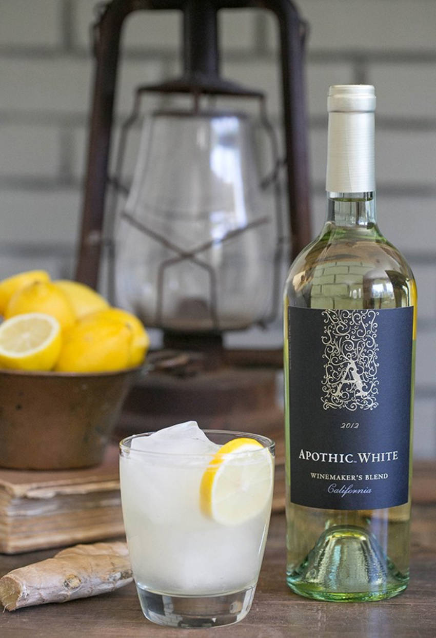 A nice ginger & lemon cocktail to lighten up!