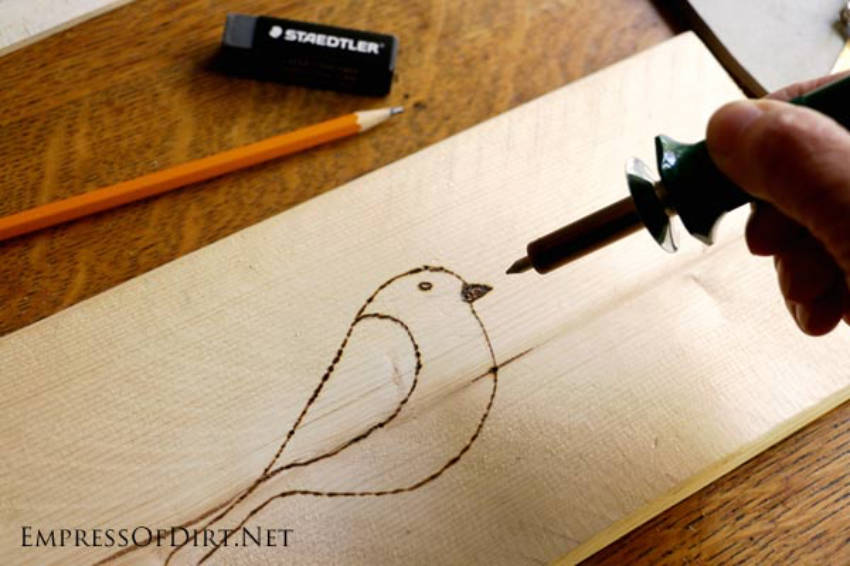 For your first wood-burning project, start simple!