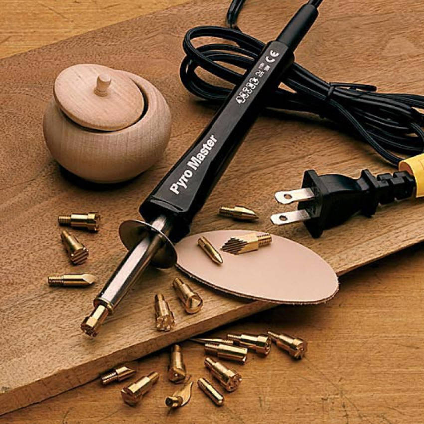 You need only basic materials and tools to start with wood-burning.