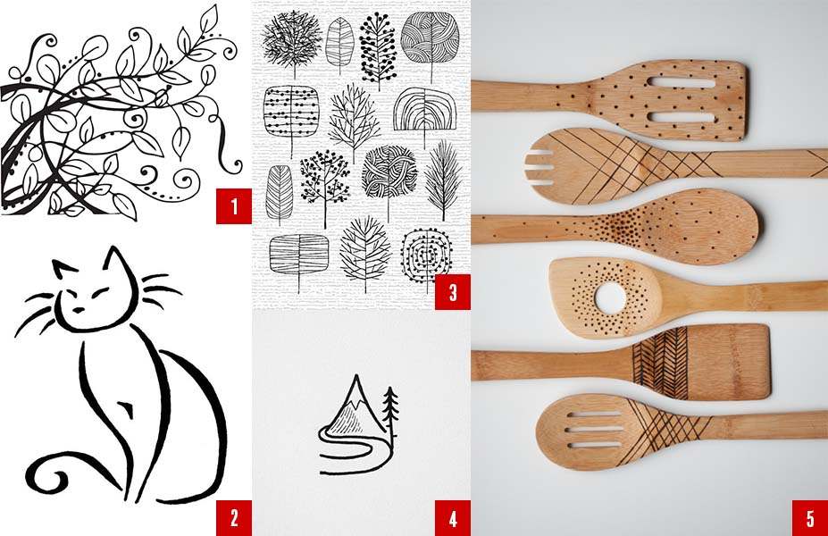 A few beginner printable for your first wood-burning project.