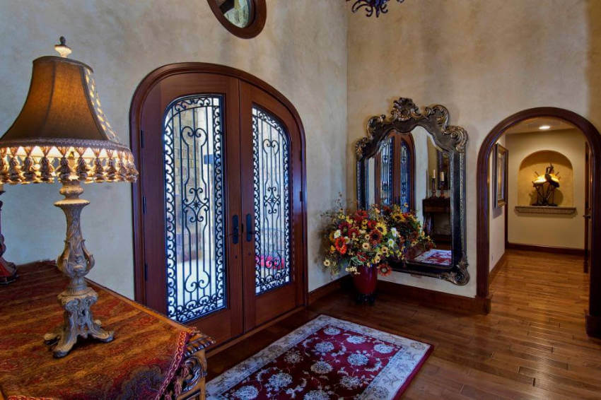 This huge and gorgeous wrought door is an amazing choice for your home!
