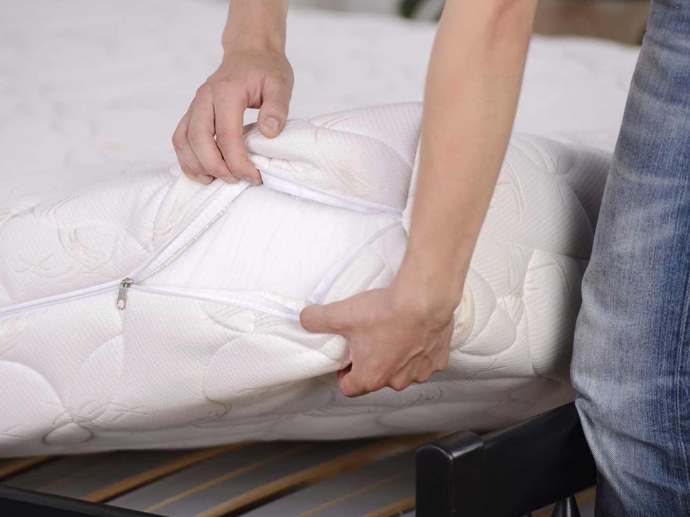Don't grab an old mattress, no matter how cheap it is.