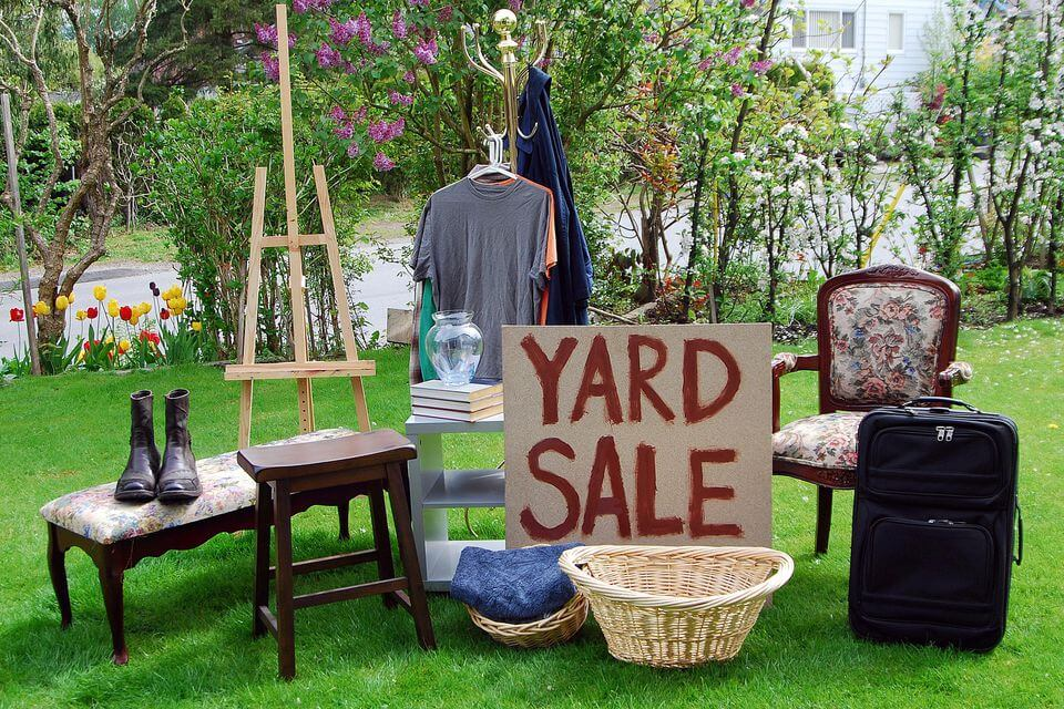 Things to avoid at a yard sale!