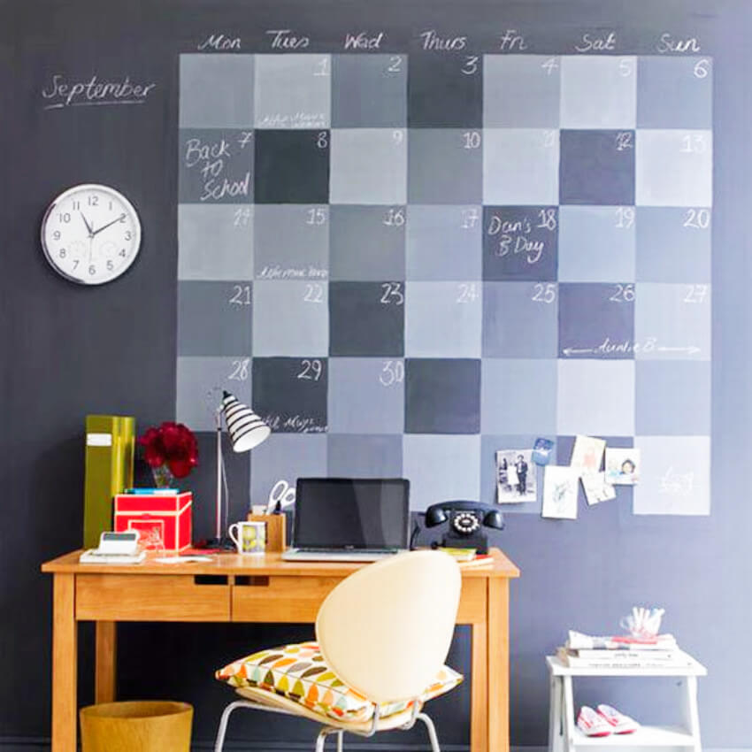 A huge calendar on the wall is great to keep deadlines for a Taurus in sight!