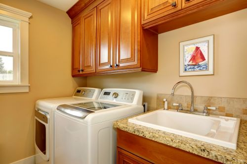Straight-forward laundry room layout