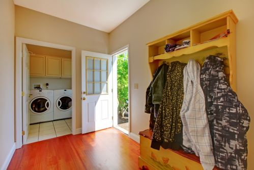 Access to backyard and tucked away laundry room