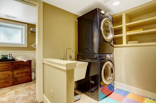 A clever laundry room and work area