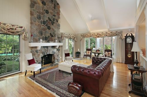 Breathtaking Stone Fireplace for a Living Room