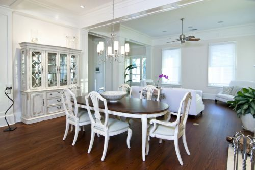 White vs Hardwood Dining Area