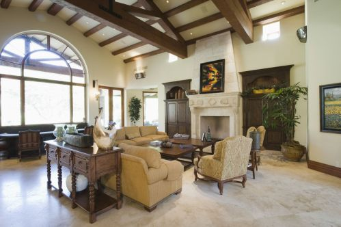 Cozy, Comfy, Close-knit Family Room Fireplace