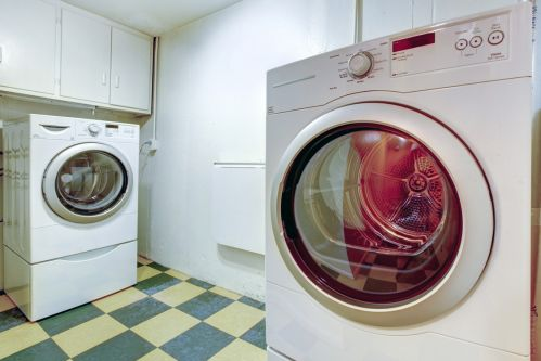 Completely practical laundry room style