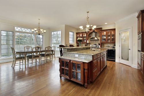 Custom Made Kitchen and Dining Room Wooden Cabinets