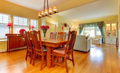 All Wood Dining Room Interior