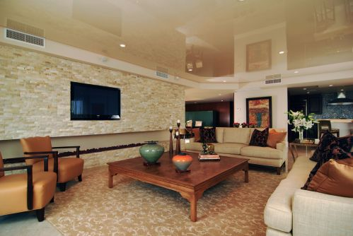 Modern Style Sleek Underground Living Room Home Entertainment System