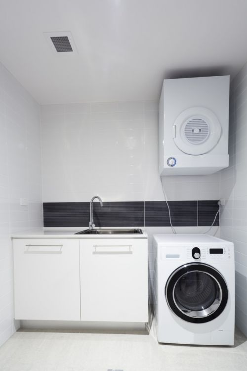Laundry room focused on time-saving